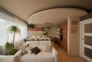 Евроремонт 1 комнатной квартиры. В однокомнатной квартире при разработке дизайна используется зонирование с использованием перегородок и разных материалов для отделки.
