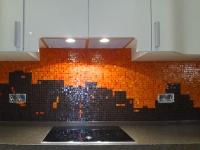 Евроремонт кухни. Отделка фартука кухни мозаикой - это стильно и красиво.