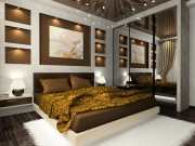 Евроремонт ремонт квартир. При евроремонте спальни использовались только материалы высокого качества.