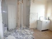 Комплексный ремонт квартир под ключ. Комплексный ремонт кухни и ванной комнаты. В ходе ремонта была демонтирована старая перегородка.