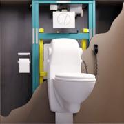 Монтаж инсталляции. Системы инсталляции используются для установки и монтажа подвесной сантехники.