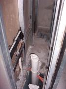 Монтаж внутренней канализации. Канализационная шахта строится для удобства обслуживания канализационной системы.