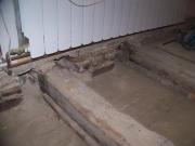 Нужен ремонт квартиры. Демонтаж старого пола в квартире. Укрепление и замена лагов.