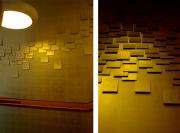 Отделка баров и кафе. Отделка стен металлическими пластинами и правильно подобранное освещение делает обстановку в кафе уютной.