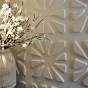 Отделка кафе. Отделка стен кафе панелями с объемным рисунком.