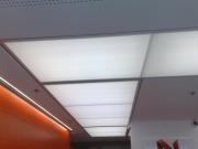 Отделка квартир под ключ. Потолок со светящимися панелями.