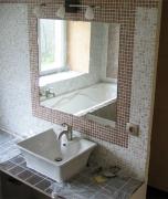 Отделка зеркалом. Отделка зеркалами ванной комнаты-обычная работа наших мастеров.