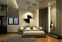 Поэтапный ремонт квартиры. Элитный ремонт спальни с различной отделкой стен и разноуровневыми потолками.