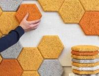 Расходы на ремонт квартиры. Отделка стены мозаичными плитами из бамбукового волокна.