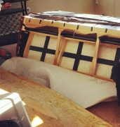 Разборка дивана. Разборка спинки дивана.