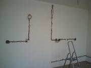 Разводка проводки. Мы можем сделать дополнительную проводку в комнате, если в этом возникла необходимость.