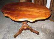 Ремонт деревянной мебели. Деревянный стол после ремонта и реставрации.