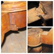 Ремонт деревянной мебели. Поломанная ножка деревянного стола.
