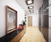 Ремонт двухкомнатной квартиры. Расширить пространство в прихожей можно при помощи зеркальной поверхности шкафов-купе.