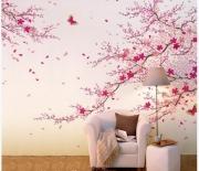 Ремонт квартир, поклейка обоев. Обои могут служить для украшения отдельной стены.