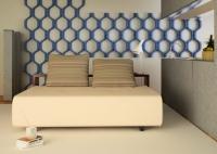 Ремонт квартир в Митино. Оригинальная настенная конструкция может выполнять роль небольших полок.