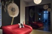 Ремонт квартир в новостройках. Современный объемный принт на стенах делает комнату стильной и уютной.