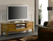Ремонт мебели недорого. Отремонтированная и отреставрированная старая тумба гармонично выглядит в современном интерьере.