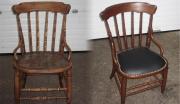 Ремонт мебели в Москве. Стул до и после ремонта.