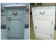 Ремонт мебели. Кухонный стол после реставрации и покраски.