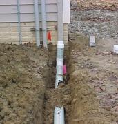 Ремонт наружной канализации. При большом объёме ремонта труб, необходимо проведение земляных работ.