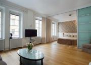 Ремонт однокомнатной квартиры П 44. Разделение спальни и гостиной раздвижной перегородкой.