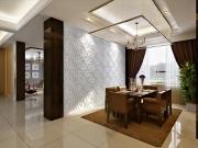 Ремонт под ключ Москва.  Евроремонт квартиры. В современном интерьере достаточно перегородки, чтобы разделить квартиру на зоны.