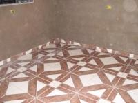 Ремонт трехкомнатной квартиры п44т. Диагональная укладка плитки в ванной комнате.