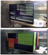 Ремонт встроенной мебели. Ремонт встроенных шкафов у нас в мастерской.