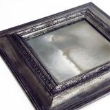 Ремонт зеркал. Так выглядит зеркало, утратившее амальгаму.