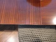 Реставрация деревянного стола. Лакированная столешница раскладного стола после реставрации. Работа мастера-реставратора Николая Ш.