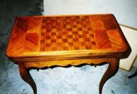 Реставрация деревянной мебели. Отреставрированный шахматный столик