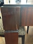Реставрация деревянной мебели. Треснувшая ножка раскладного стола. Массив дерева. Фото мастера-реставратора Николая Ш.