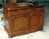 Реставрация кухонных фасадов. Кухонный стол после восстановления был преобразован в стол под мойку.