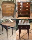 Реставрация мебели. Комод и столик до и после восстановления.
