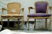 Реставрация старого стула. Стул до и после реставрации.