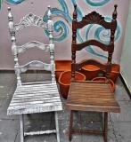 Реставрация старого стула. Старый деревянный стул до и после реставрации.