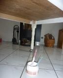 Реставрация старой мебели. Покраска старого стола после консервации и обработки.
