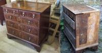 Реставрация старой мебели. Старый комод до и после ремонта.