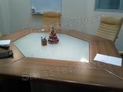 Реставрация стола. Реставрация офисного стола из МДФ. Обтерлись торцы, не работала подсветка.