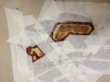 Реставрация столешницы. Этап реставрации столешницы - зачистка сгоревшей поверхности.