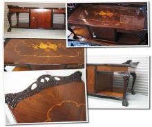 Реставрация столика. Отреставрированный кофейный столик.