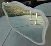 Резка зеркал на заказ. Старинное зеркало сложной формы. Необходимо было заменить зеркальное полотно.