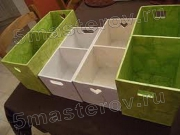 Сборка детской мебели. Сборка ящиков для игрушек и других мелочей.