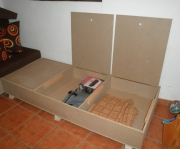 Сборка диванов. Сборка дивана с ящиками.