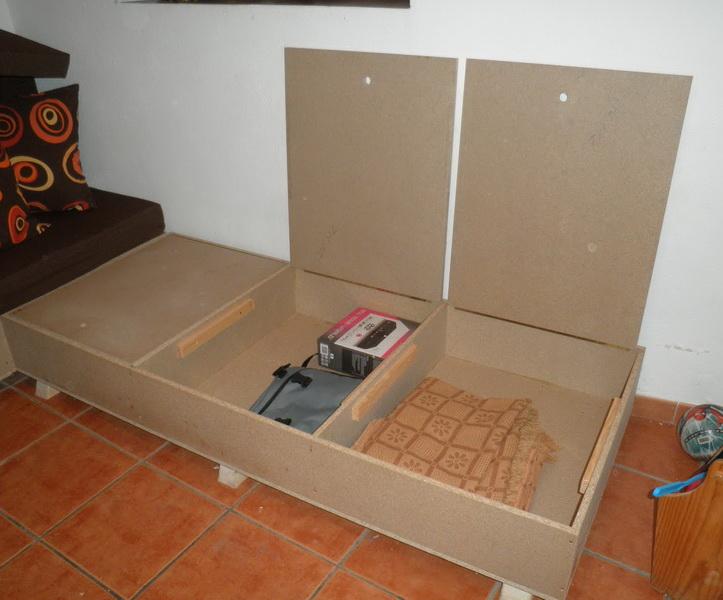 Сборка дивана с ящиками.