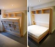 Сборка кровати. Кровать-трансформер днем превращается в шкаф.