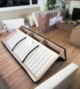 Сборка углового дивана. Сборка дивана осуществляется мастерами быстро и качественно.