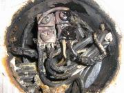 Сгорела проводка. Часто причиной возгорания электрической проводки становится плохое качество провода при высокой нагрузке на электросеть.