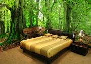 Сколько стоит евроремонт квартиры. Отделка стен спальни 3D обоями.